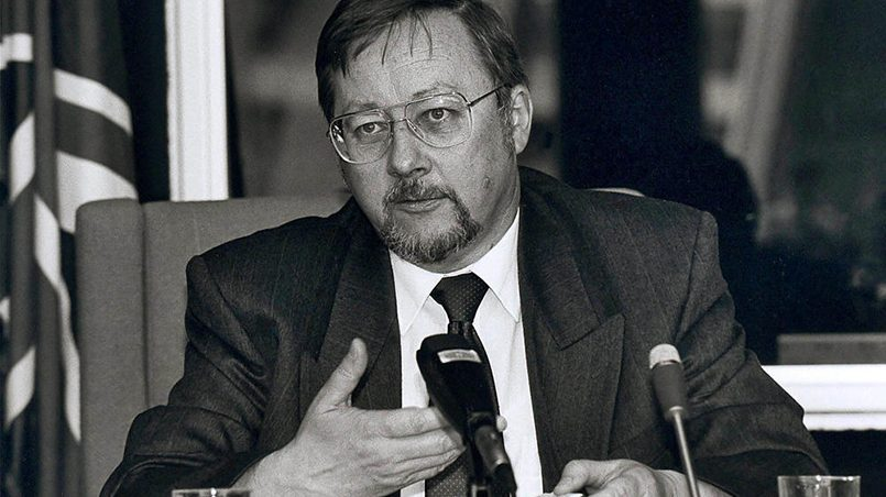 V. Landsbergis, Strasburas, 1990 metų liepos 9 / Nuotr.: CVCE